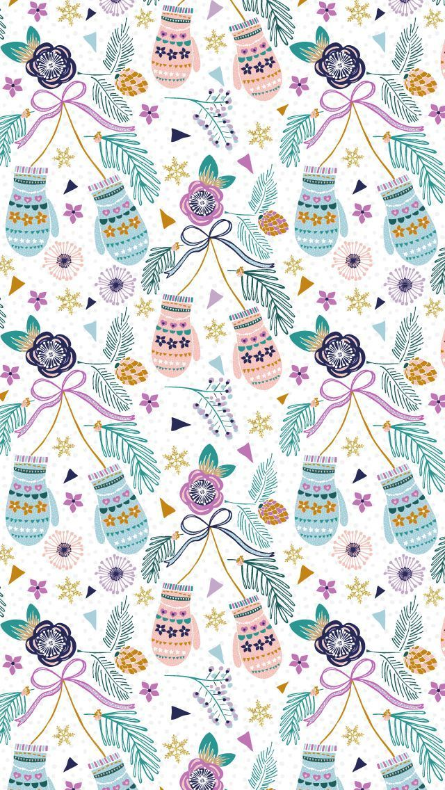 Christmas Pattern by Alice Perry Designs ☆ Find more Seasonal wallpapers for your #iPhone + #Android /prettywallpaper/
