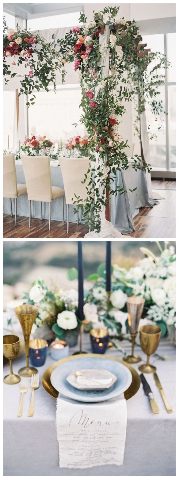 Top  Classic Romantic Dusty Blue Wedding Decor Ideas