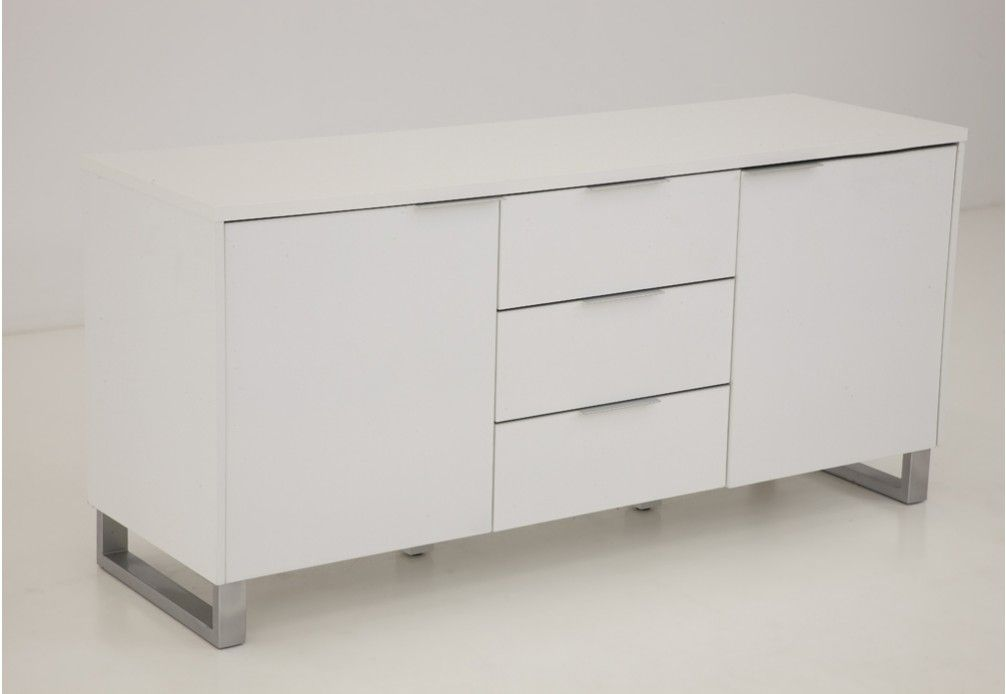 White TV Unit $399 95 Super Amart 160cm, buffet height ICE Buffets Dining Furniture