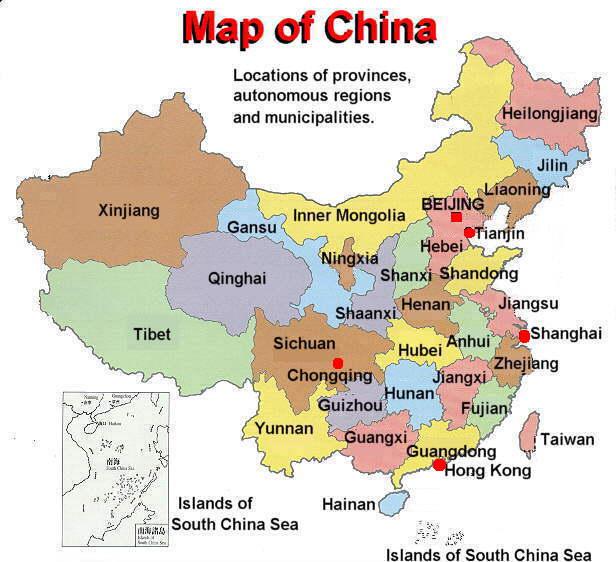 Map Of China States ~ BLOGDOXADAI | China map, Map, China states