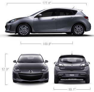 Dimensions Of The 2013 Mazda3 5 Door Car Shop New Cars Mazda 3