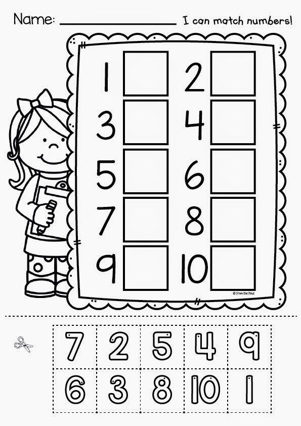 FREE Cut and Paste Number Worksheet school at home – Free Cut and Paste Worksheets