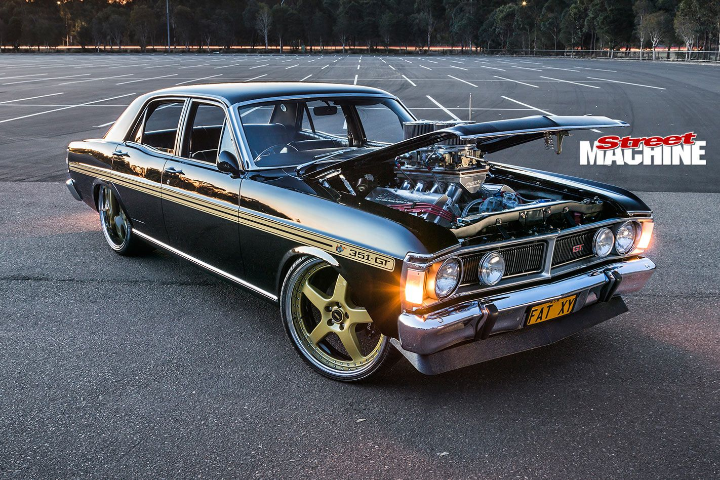 John Saad S Street Driven Ford Xy Falcon Combines Elite Level Build Quality With A 1354hp Sonny S Mou Australian Muscle Cars Australian Cars Aussie Muscle Cars