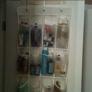 Over The Door Shoe Organizer Is A Great Way To Organize Your Toiletries,  Make