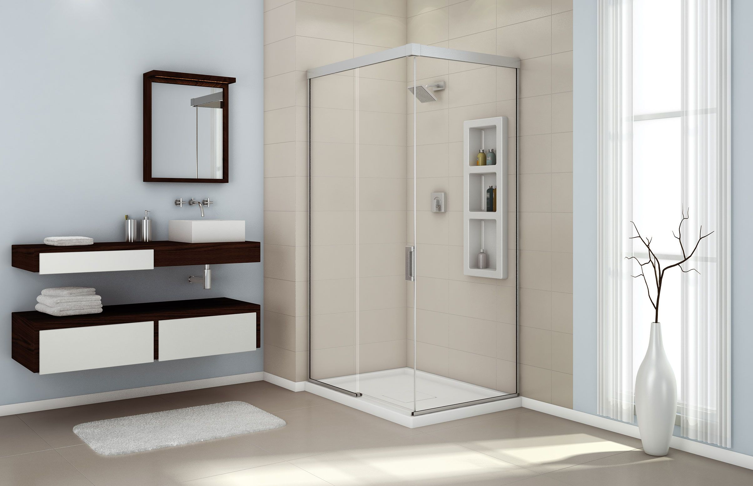 Evidence 4836 C Corner or Glass enclosures shower - Advanta by MAAX ...