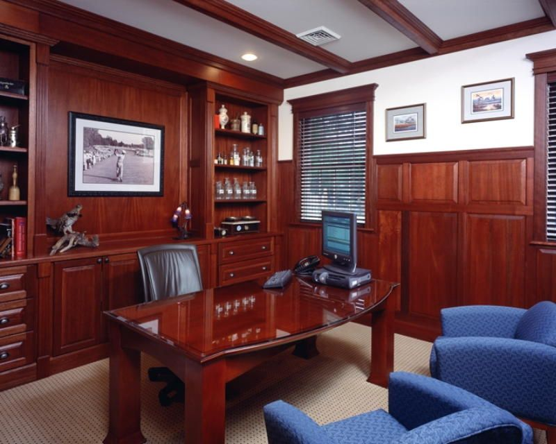 Somers Point, NJ. Executive Offices At Home Solutions Inc. Notice The  Custom Mahogany