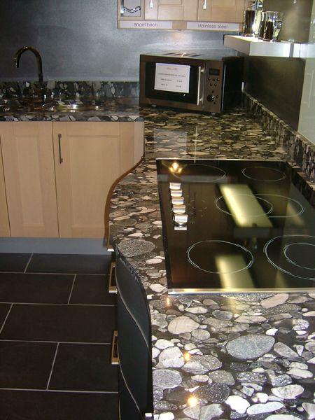 The Granite Gurus Slab Sunday Nero Marinace Granite Granite Cottage Kitchen Howard House