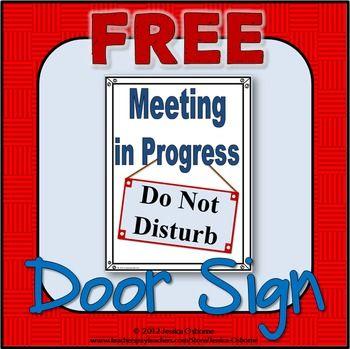 Meeting Door Sign Free Door Signs Signs High School
