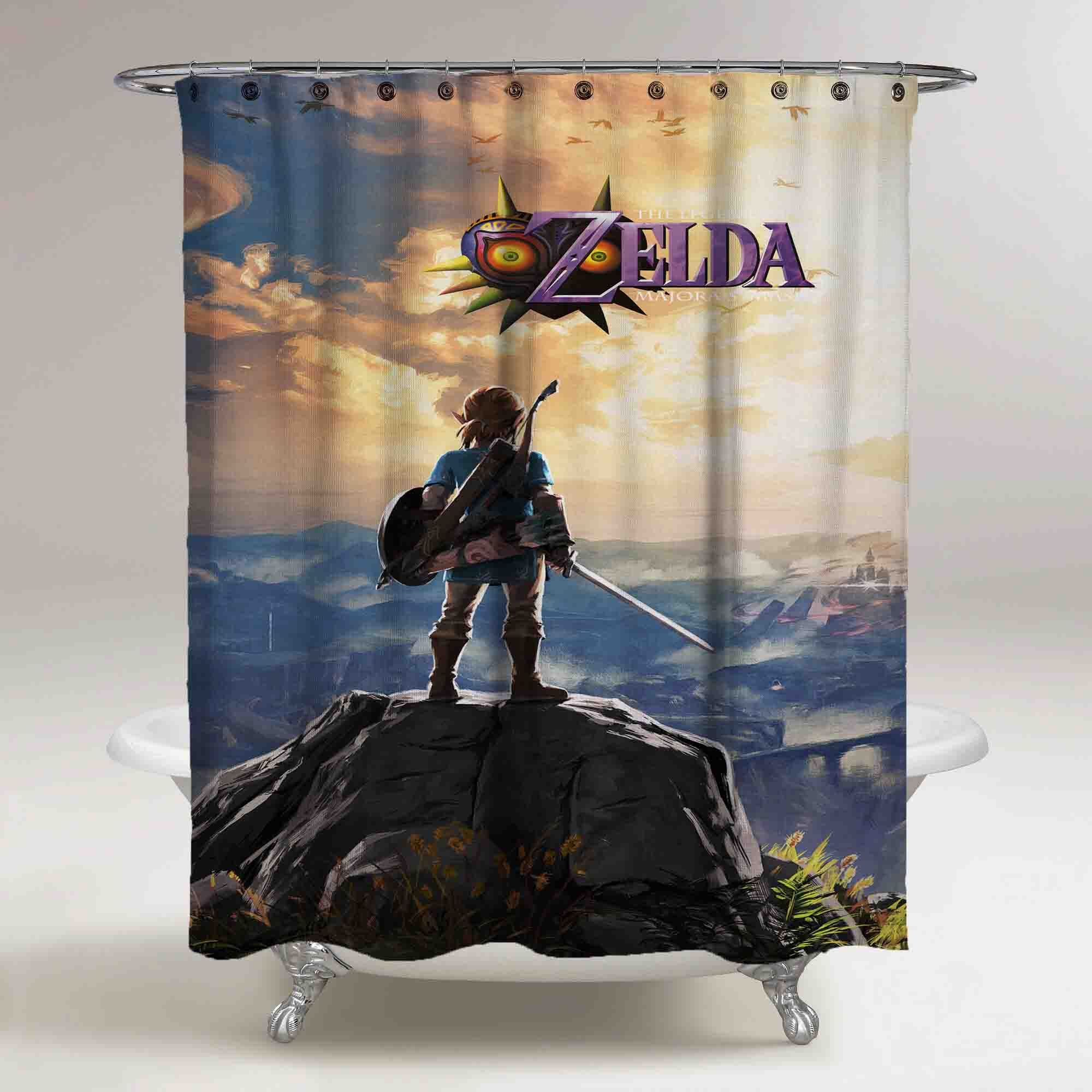Rare Legend Of Zelda Custom Shower Curtain Print On In 2020
