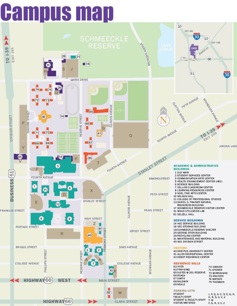 UW - Stevens Point campus map | UW-Stevens Point | Pinterest | College