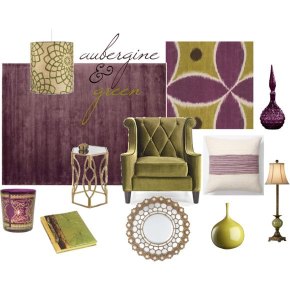 Living Room Ideas · With A Background Of A Pale, Smokey Gray Walls, Imagine  The Richness Of Aubergine