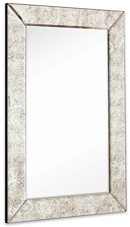 Large Antiqued Framed Wall Mirror 3 5 Inch Antique Frame