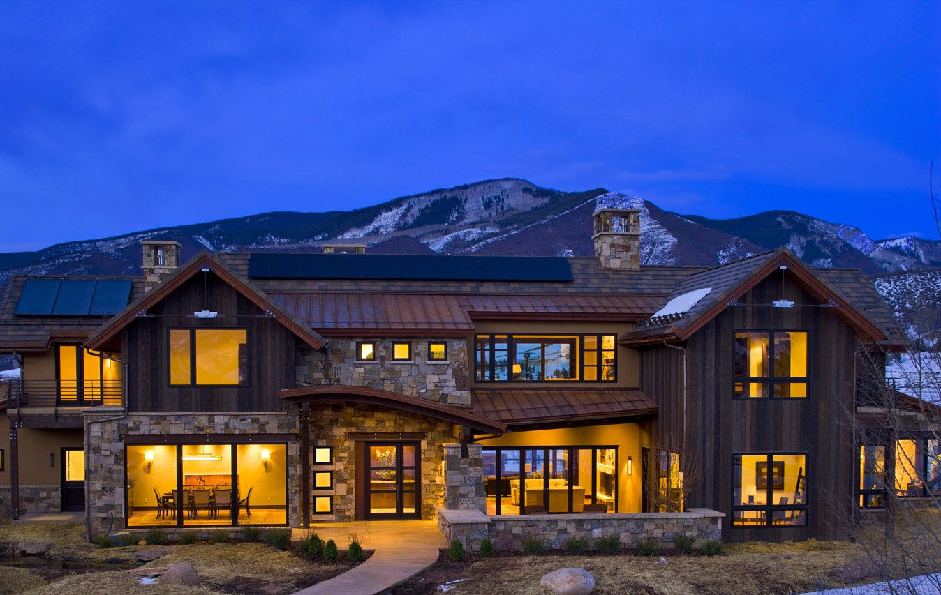 Modern And Elegant Contemporary Mountain Home Plans Aspen House Beautiful Modern Homes Modern Mountain Home