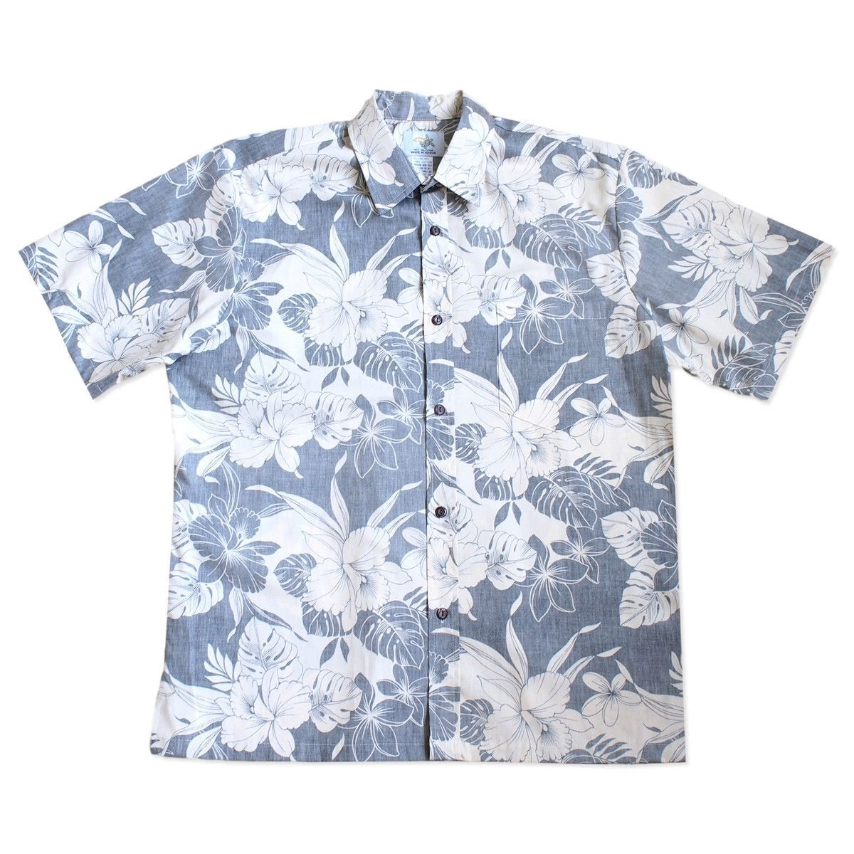 72410df1 Orchid shadow navy reverse print hawaiian cotton shirt in 2019 ...