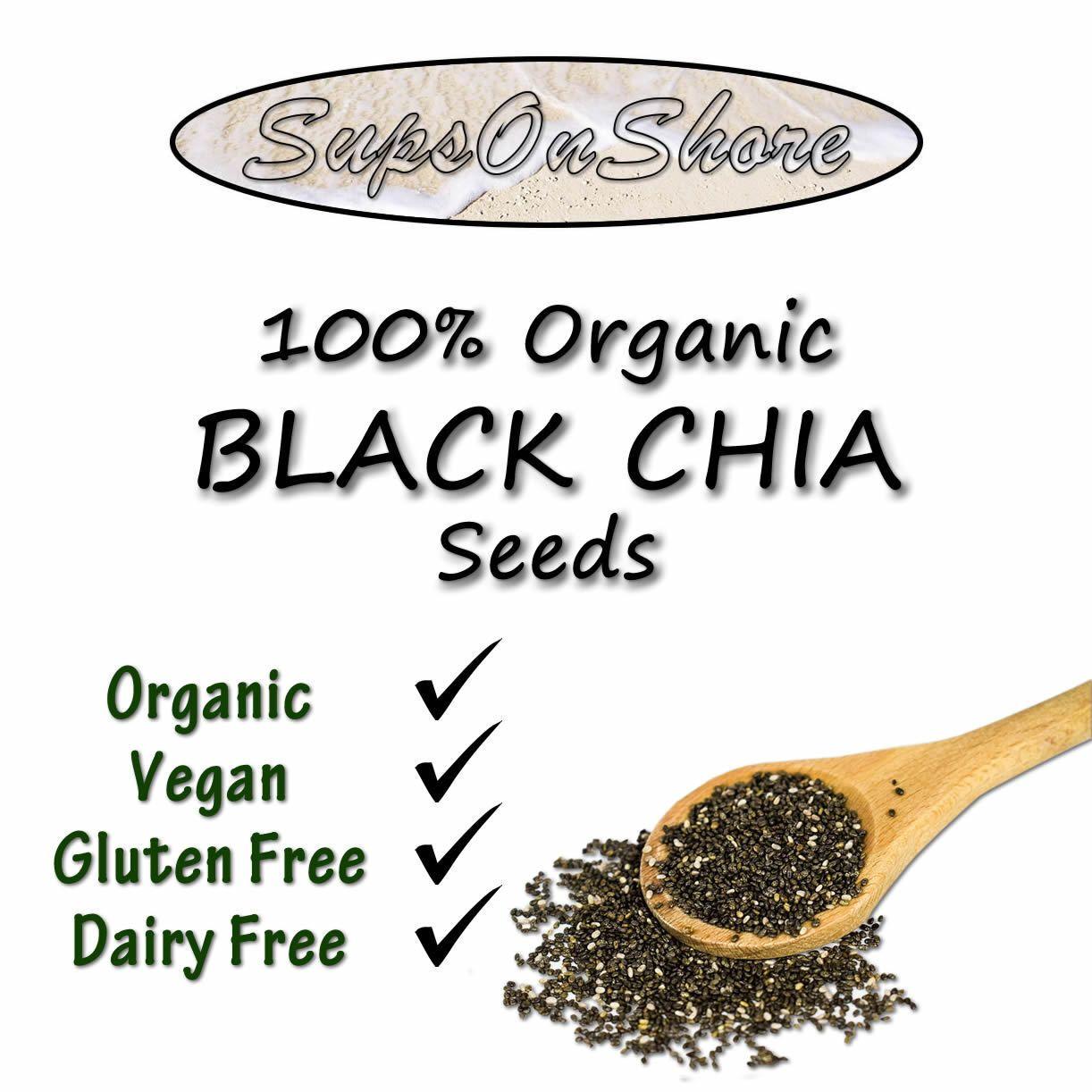 495 Aud 100 Organic Premium Black Chia Seeds 50g 125g 250g 1 Kg 500g 1kg 2kg 4kg