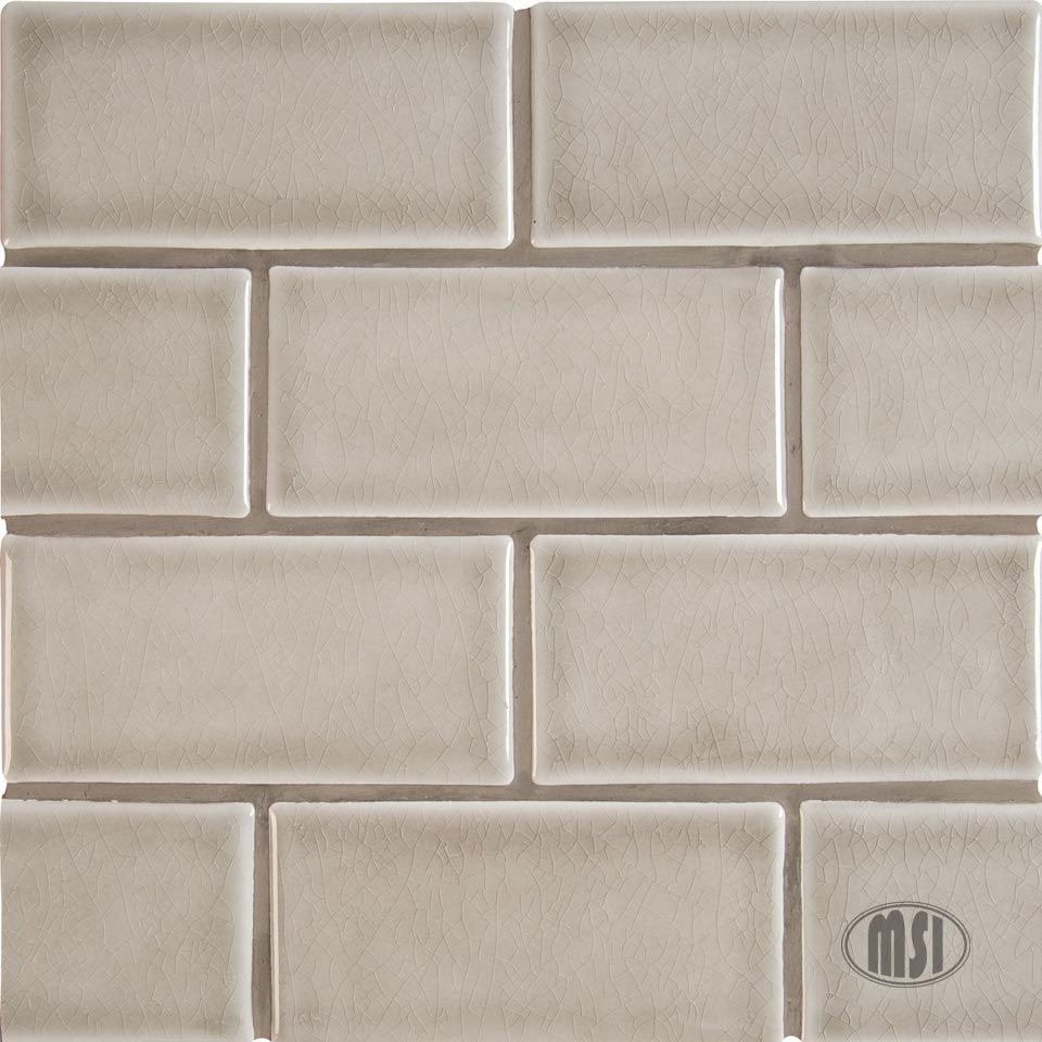 - 3x6 Handcrafted Tiles In Classic Dove Gray, These Undulated