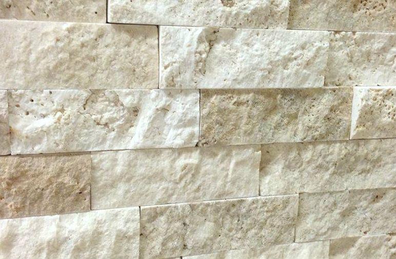 Gl Tile Split Face Travertine Ivory 2 X6 6x24