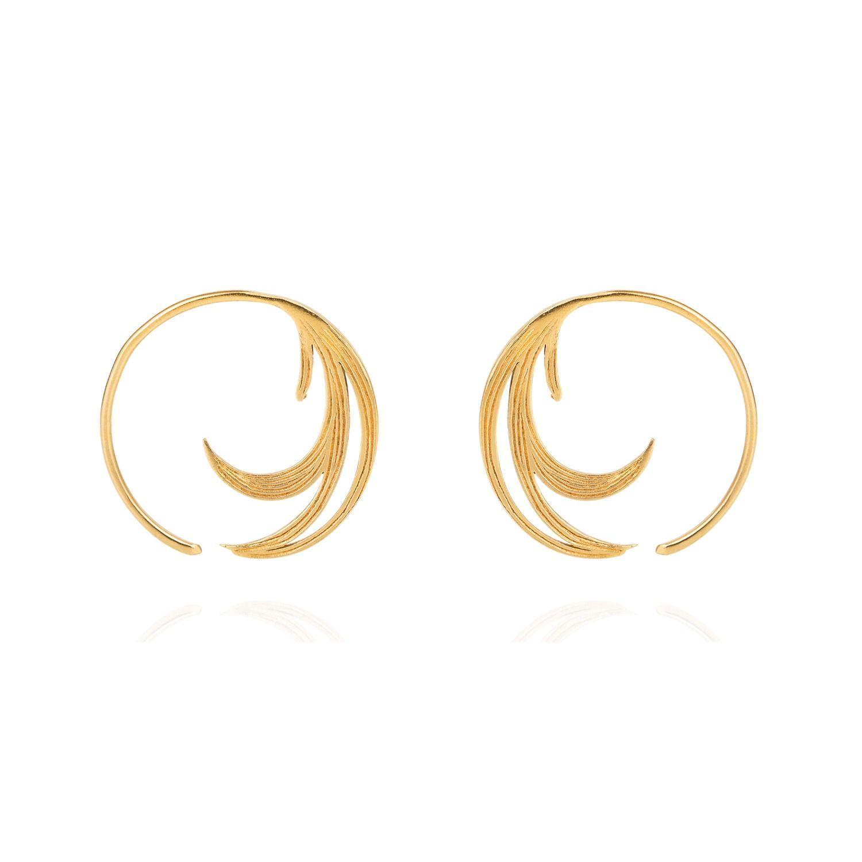 43+ Feather hoop earrings gold ideas