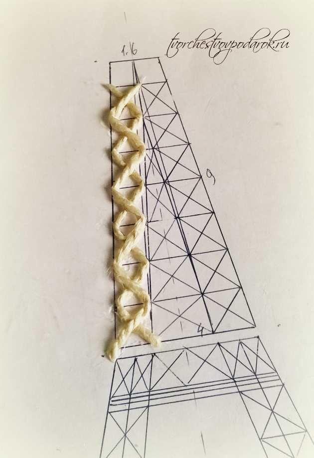 эйфелева башня из спичек схема