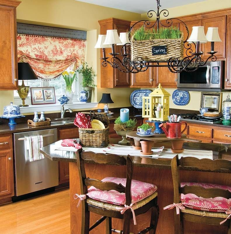 Charming Country Kitchen Decorations With Italian Style: Pair Up French Country Style With Garden-fresh Goods For