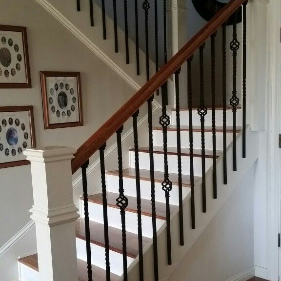 wrought iron bannisters with wood floors bannisters interior rh pinterest es