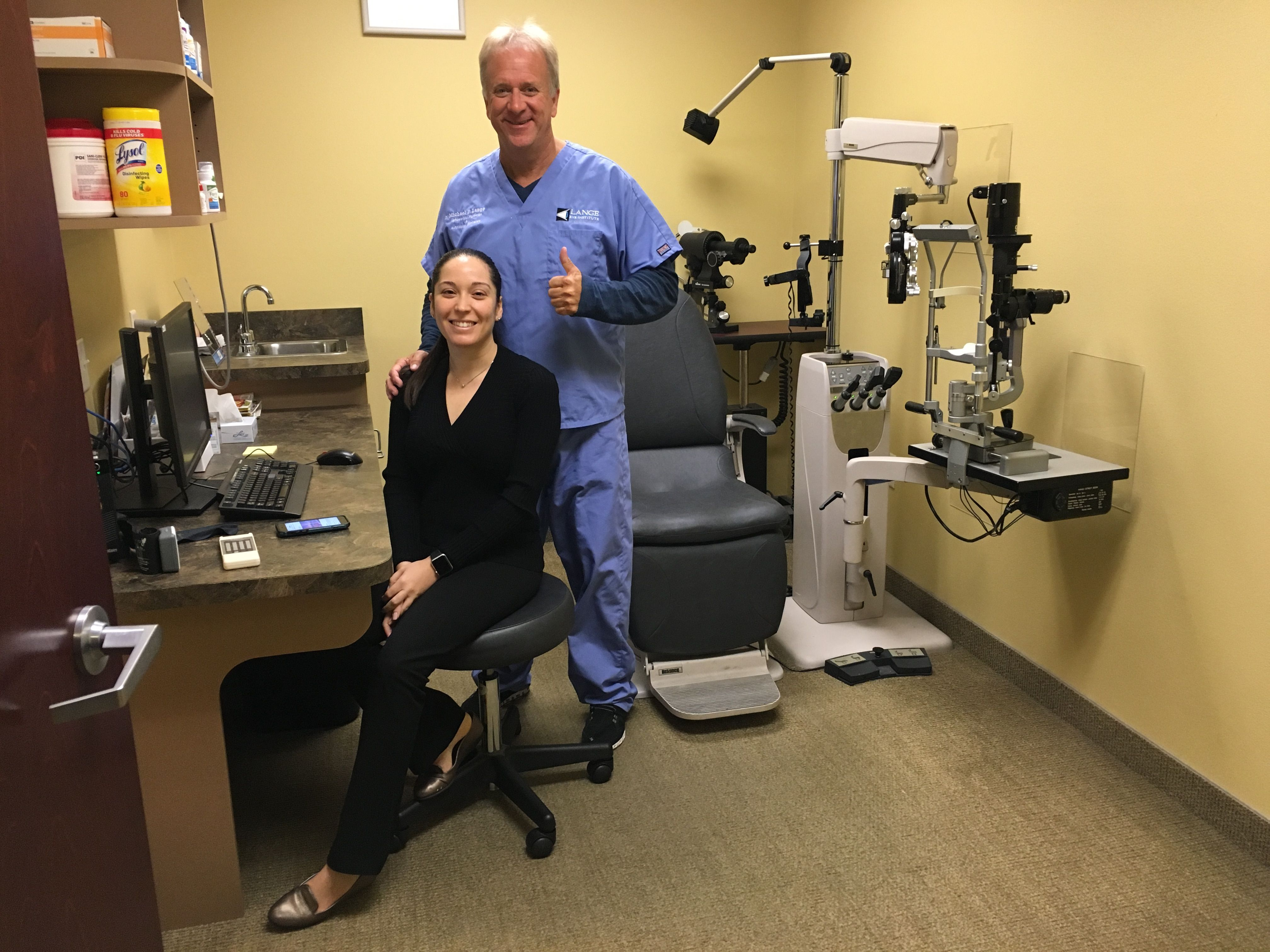 Dr Michael Lange And Dr Yaidy Exposito At The Lange Eye Institute In