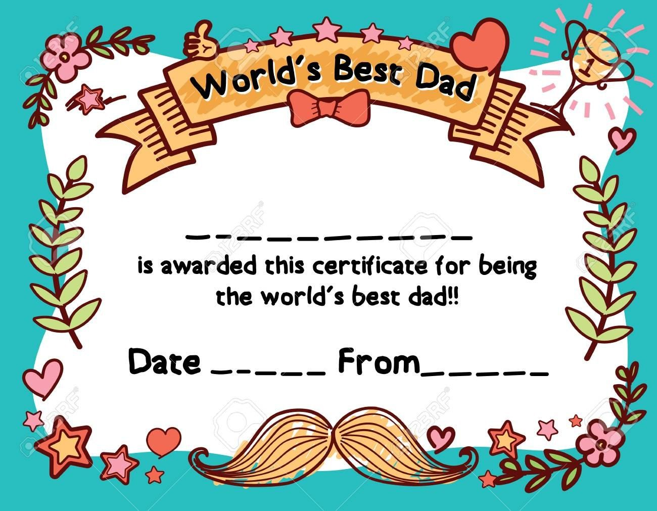 World S Best Dad Award Certificate Template For Father S Day Throughout Player Of The Day Ce Certificate Templates Worlds Best Dad Awards Certificates Template