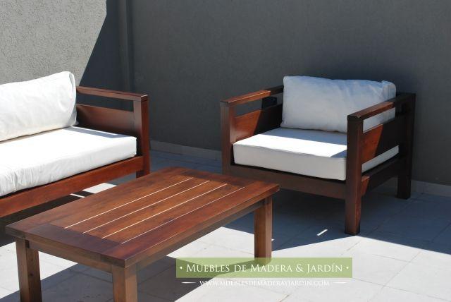 Mesa ratonas para terrazas sillas bancos pinterest for Sillones de madera para terraza