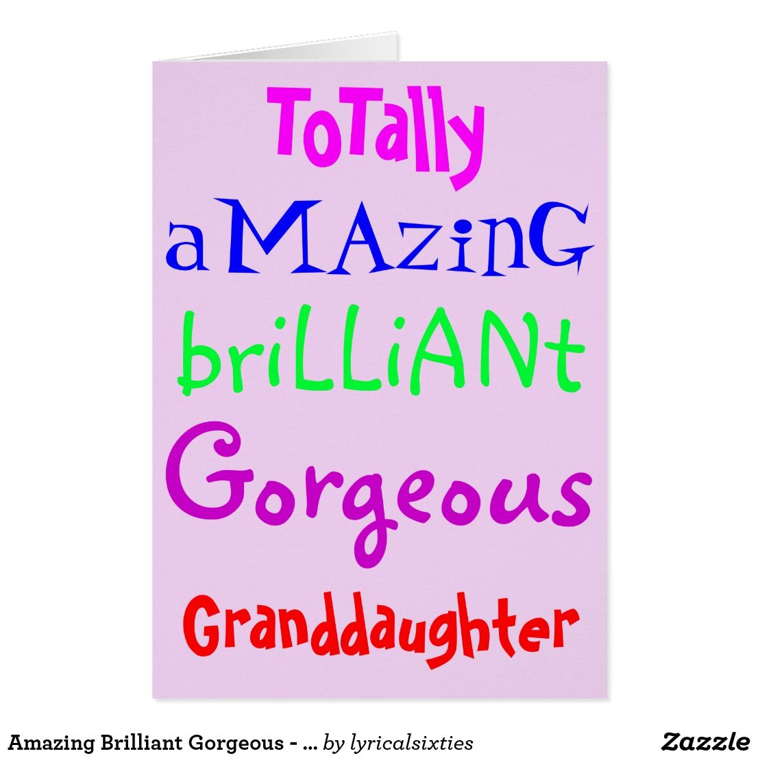 Amazing Brilliant Gorgeous Personalised Birthday Card Happy