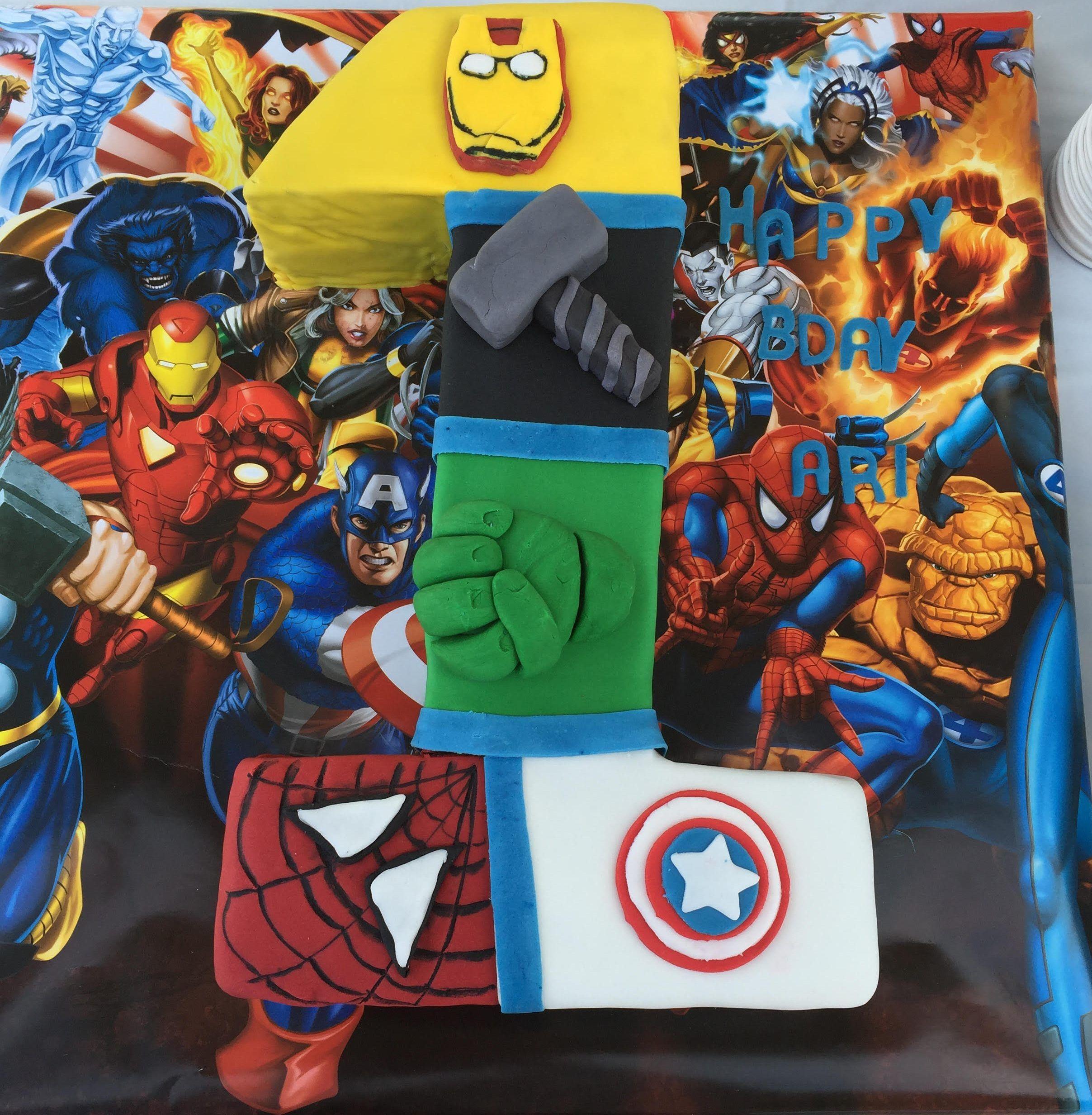 Avengers 1st Birthday Cake Thermo Mixer Recipe Birthday