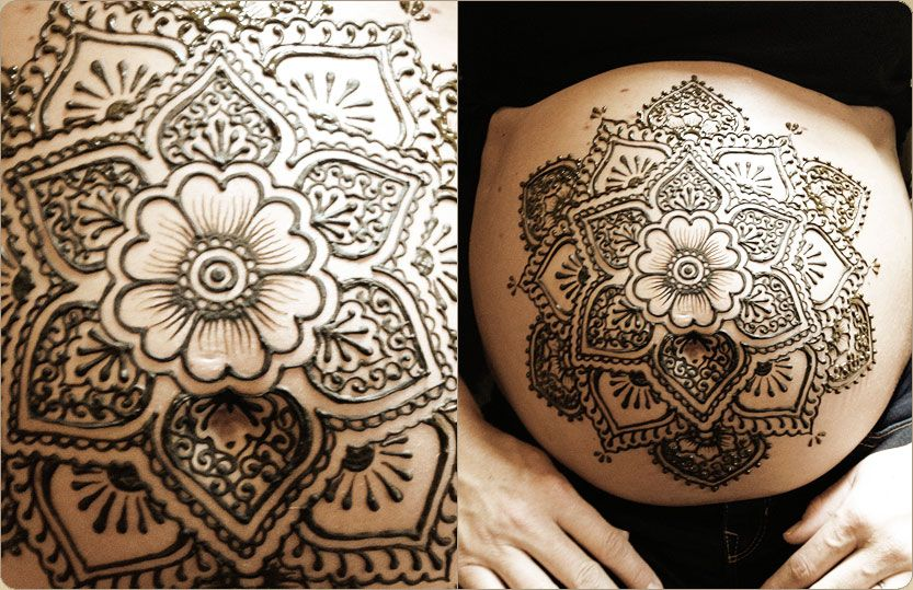 Mehndi Patterns Lotus : Blue lotus henna custom tattoo design in portland
