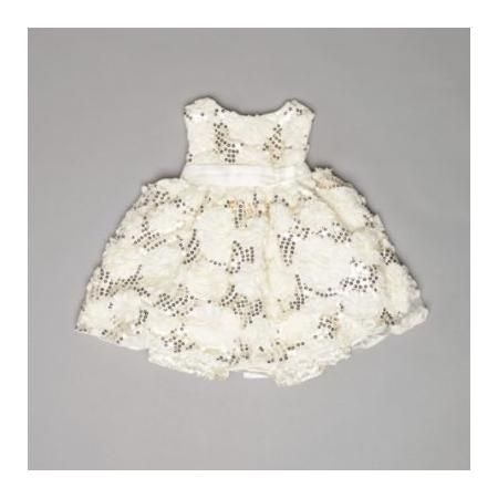American Princess Girl s Infant/Toddler Dress Sleeveless Sequins Ivy Gold White  http://beso.ly/rd/4595602911?a=416213=1