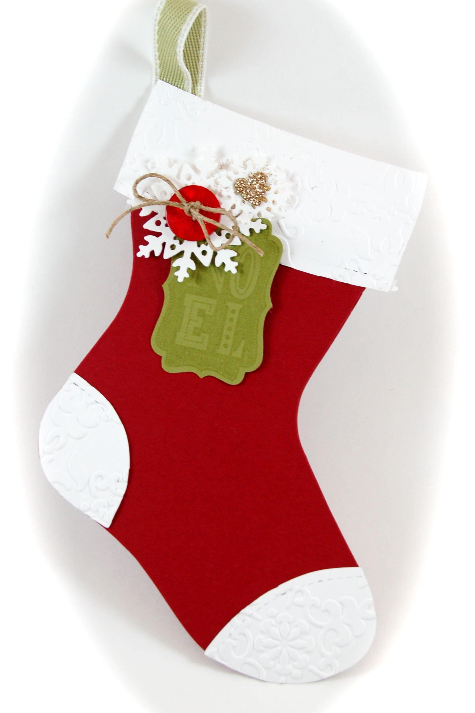 Holiday Stocking Card Christmas Stockings Diy Papercraft Christmas Cards Holiday Stockings