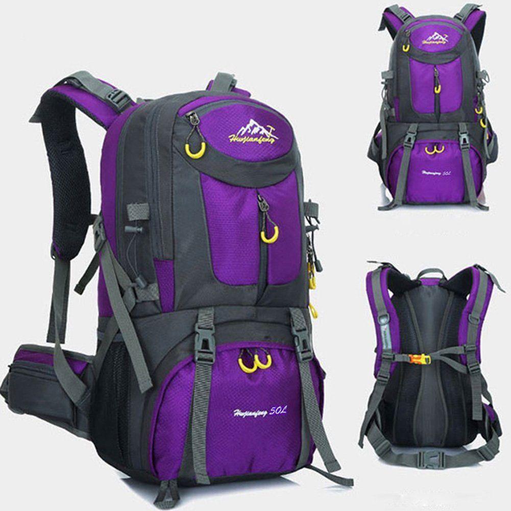 50L Men Women Outdoor Hiking Backpack Waterproof Camping Travel Trekking Bag USA