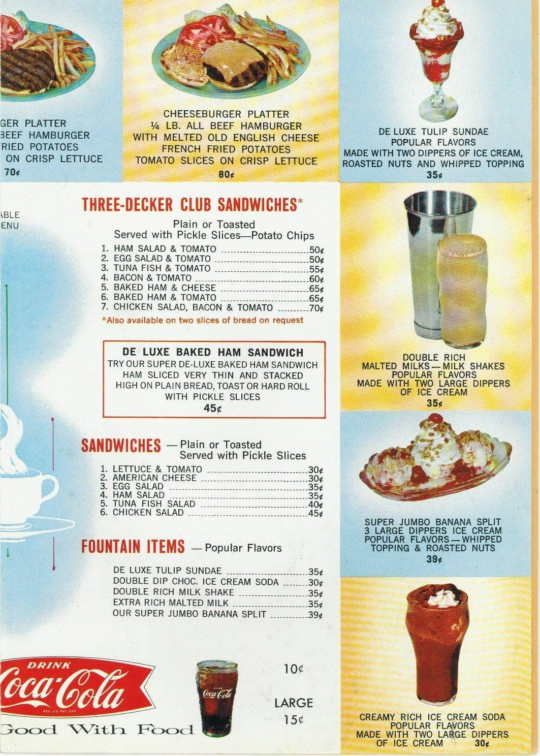 1986 Vintage Menu ROADWAY INN - SUNSHINE FEED STORE Restaurant Boise ...