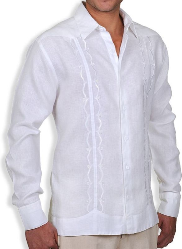6a2c50cc07 GAT Hawaiian Men s Aloha Lucas Linen Guayabera Shirt Custom Embroidery 2XL  3XL