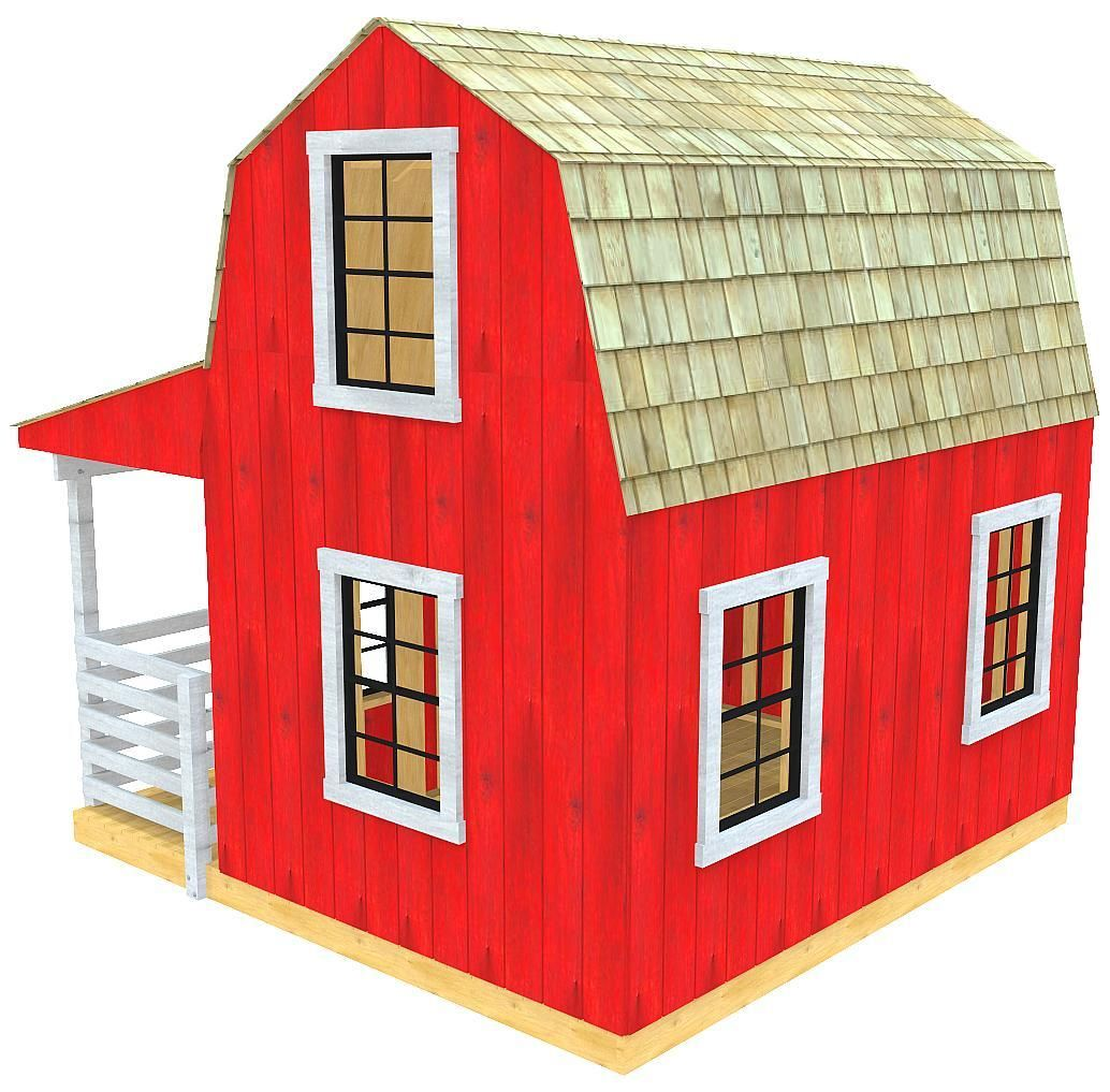 Barn & Silo Playhouse Plan (2‑Sizes) in 2019 | Playhouse