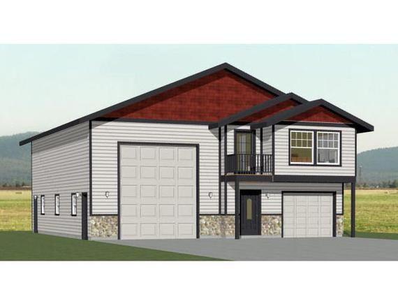40x48 House 2 Bedroom 2 5 Bath 1613 Sq Ft Pdf Floor Etsy Small House Big Garage Garage House Plans Garage Apartment Floor Plans