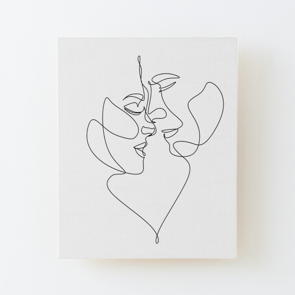 Couple one line art. Love print. 2 faces. Man and woman. Love art. Symbol of love by OneLinePrint | Redbubble