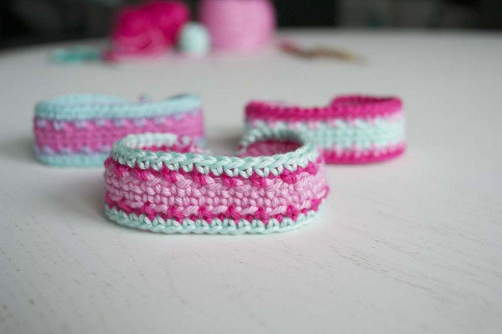 Lme Armband Tutorial34 Haken Pinterest Armband Crochet And Haken