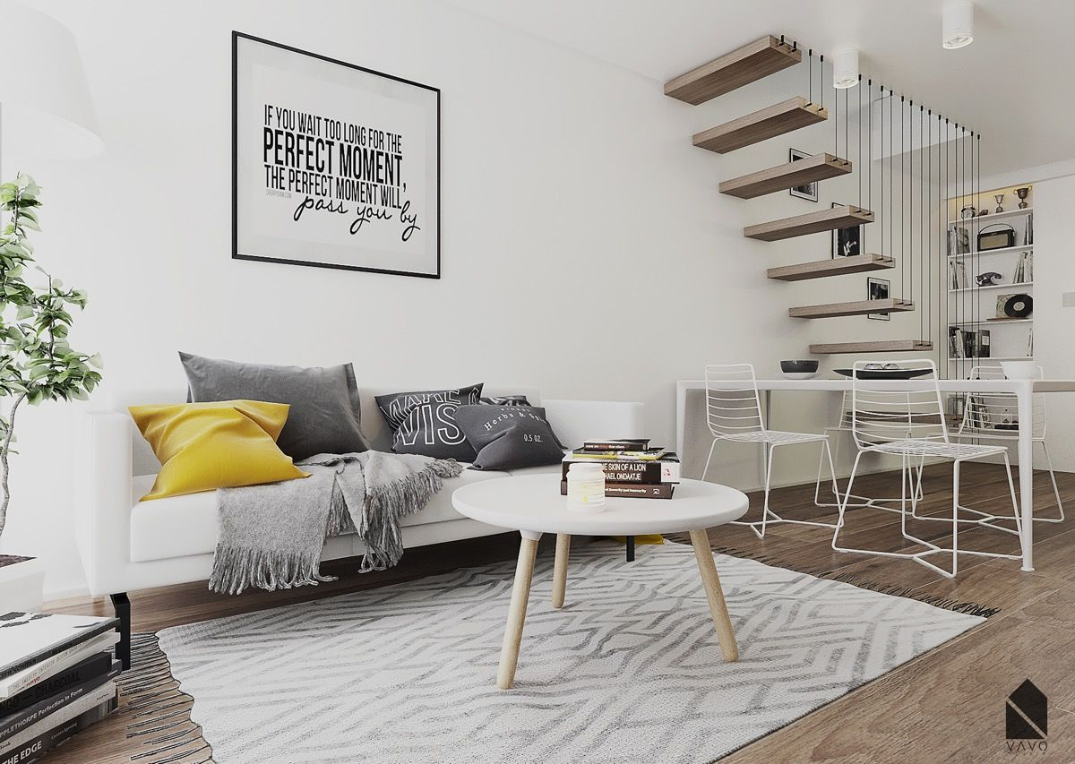 Yellow Accents In Scandinavian Style Interiors 3 Examples That Show You How Scandinavian Style Interior Blue Accents Living Room Living Room Accents #yellow #living #room #accents