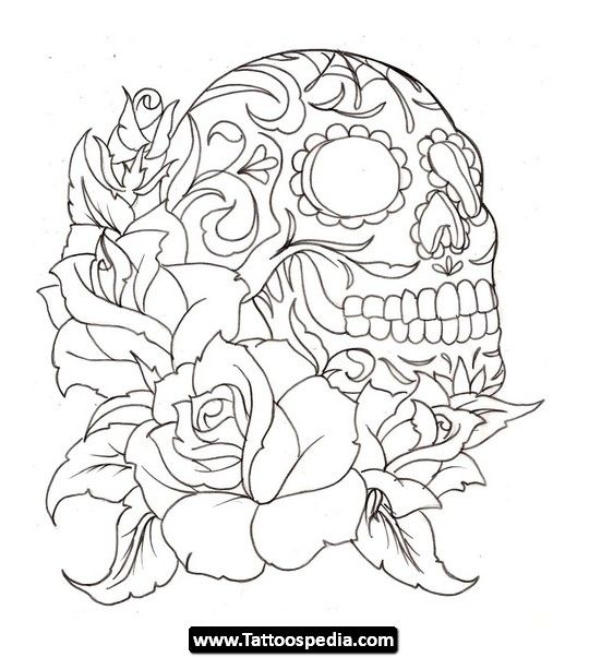 Skulls 20tattoos 20for 20men 20 Skulls Tattoos For Men 20 Skull Coloring Pages Tattoo Coloring Book Rose Coloring Pages