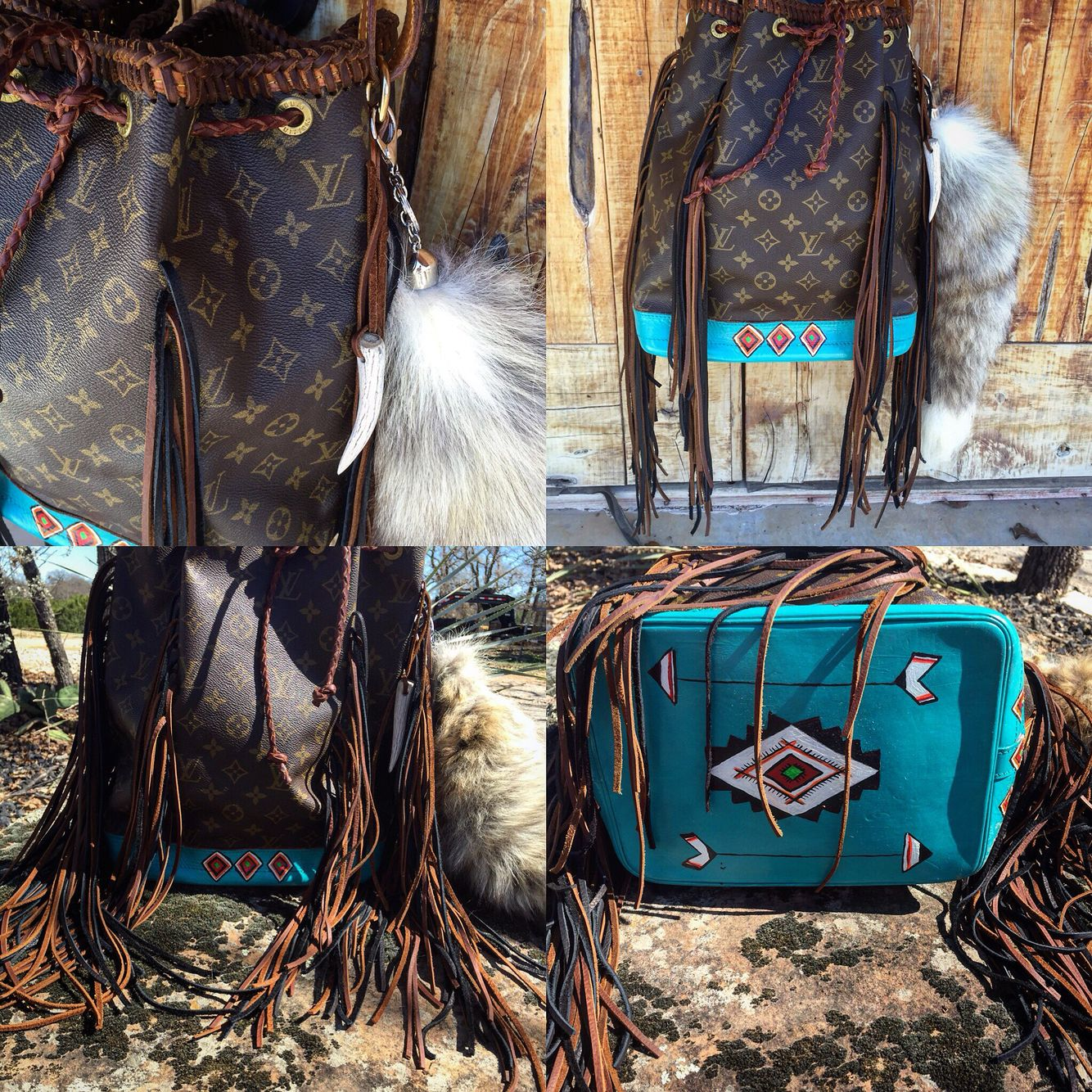 9c544e58a Western fringe Louis Vuitton by Southern Fancys | Fringed craze in ...