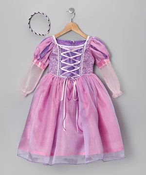 This Set Is Filled With All The Fairy Tale Fancy Needed To Make Girls Feel Like Princesses The Dress Boa Princess Dress Up Cute Girl Outfits Rapunzel Dress Up