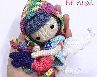 Amigurumi Doll Patterns : Crochet doll pattern devil momo 么么 by lydiawlcmw on etsy