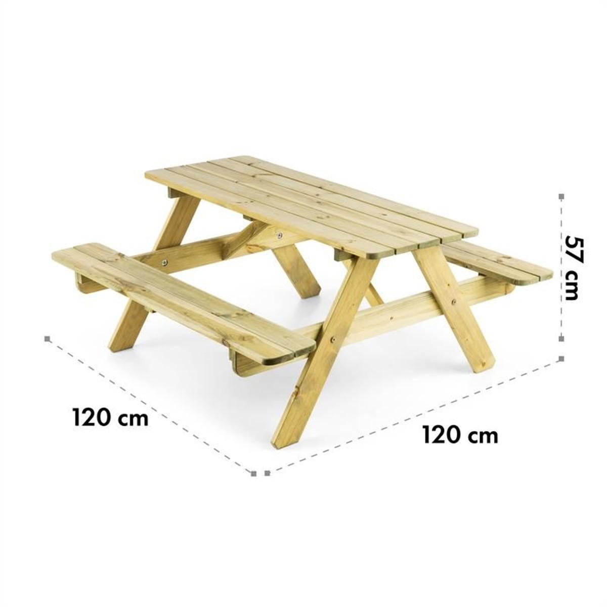 Enfants en Bois Picnic Table Avec Banc Enfants Extérieur Jardin Tables à manger un sièges