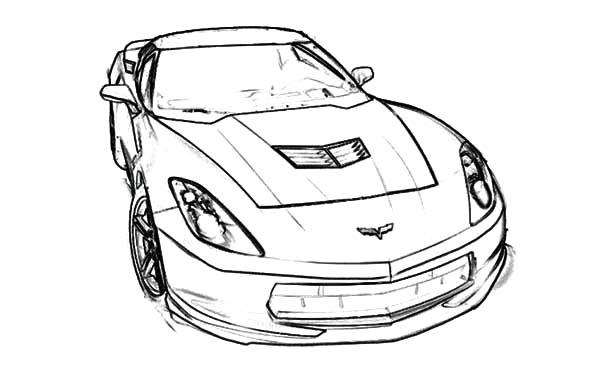 Stingray C7 Corvette Cars Coloring Pages : Kids Play Color