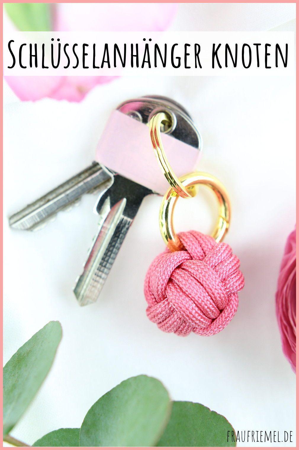 Schlüsselanhänger knoten aus Paracord | frau friemel