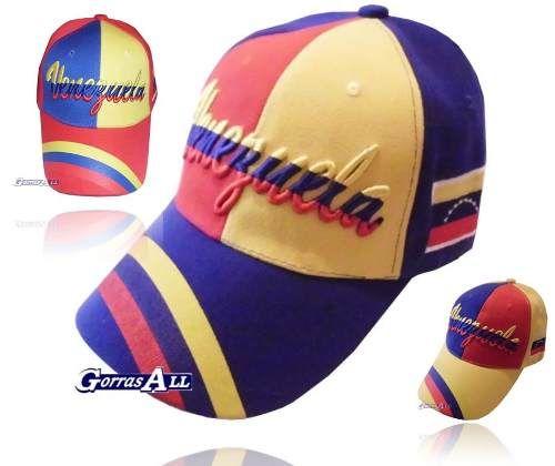 Gorra De Venezuela Bandera Tricolor Amarillo Azul Y Rojo - BsF 45 1e9aa68754e