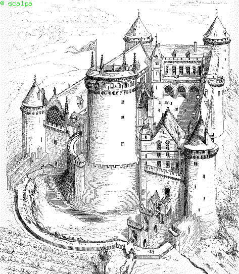 Vocabulaire du ch teau fort aeon castle pinterest - Dessin d un chateau fort ...
